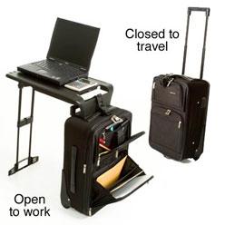 Solucionespymes maletas maleta con mesa plegable para for Mesa plegable maletin