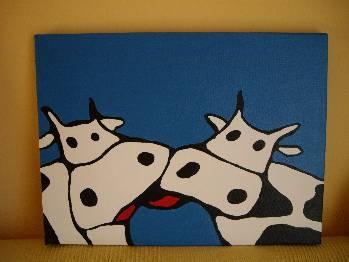 Artesaniasgloria cuadros vacas artesanias en almer a espa a - Cuadros de vacas ...